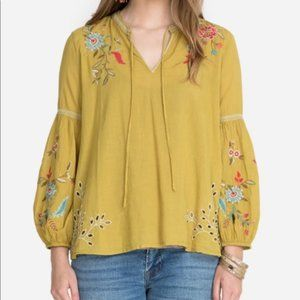 Johnny Was Lidia Effortless Peasant Blouse NWT Med
